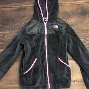 The North Face Girls L Gray Fleece Jacket